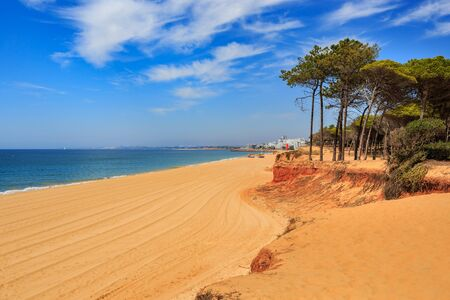 algarve: The coast of the Algarve in southern Portugal near Quarteira