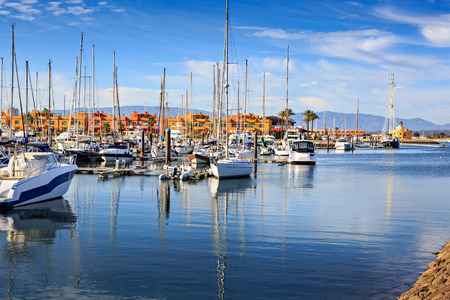portugal: Marina de Portimao on Algarve in southern Portugal
