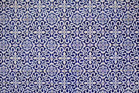 ceramic tiles: textured surface of old and cracked ceramic tiles from Portugal