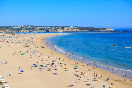 algarve: PORTIMAO, ALGARVE, PORTUGAL - CIRCA SEPTEMBER, 2015: The coast of the Algarve in southern Portugal near Portimao Editorial