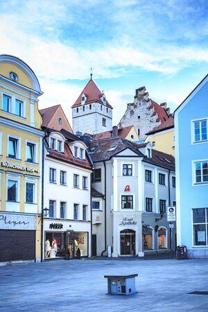 regensburg: REGENSBURG, BAVARIA, GERMANY - CIRCA JULY, 2015: Streets of Regensburg