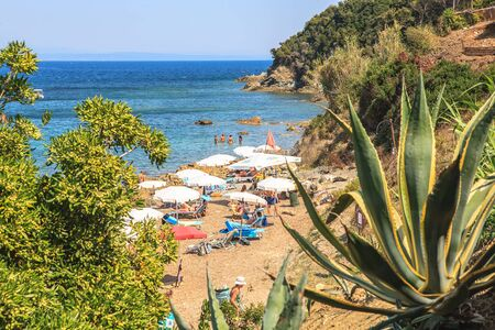 CAVO, ELBA ISLAND,  ITALY - CIRCA AUGUST, 2011: A beach near Cavo, Elba Island, Italy