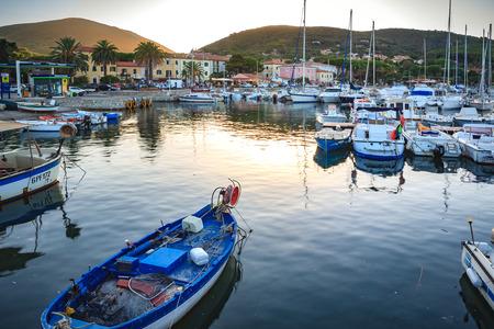 CAVO, ELBA ISLAND,  ITALY - CIRCA AUGUST, 2011: The haven of Cavo, Elba Island, Italy