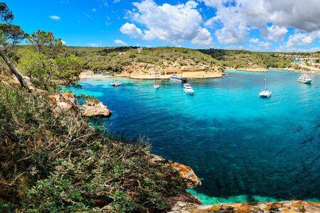 MALLORCA, BALEARIC ISLANDS, SPAIN - CIRCA MAI, 2016: The Portals Vells bay on Mallorca Island, the Balearic Islands in the Mediterranean Sea, Spain