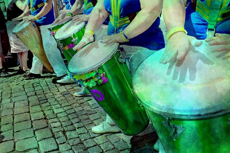 La samba musicien inconnu participe au festival annuel de samba