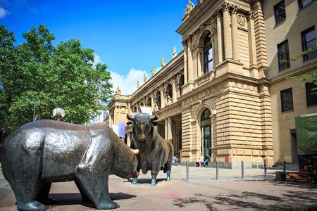 frankfurt stock exchange: FRANKFURT ON THE MAIN, GERMANY - CIRCA JUNE, 2016: The stock Exchange of Frankfurt on the Main, Germany