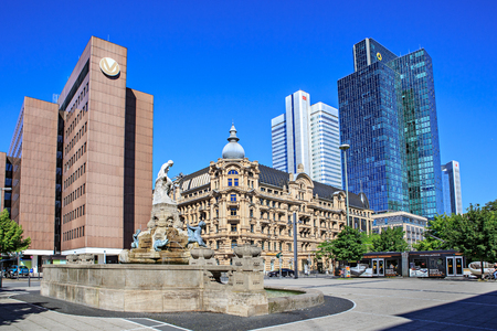 FRANKFURT ON THE MAIN, GERMANY - CIRCA JUNE, 2016: The Willy-Brandt-Square of Frankfurt on the Main, Germany