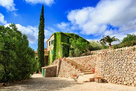Valldemossa town on Mallorca Island, the Balearic Islands in the Mediterranean Sea, Spain Editorial