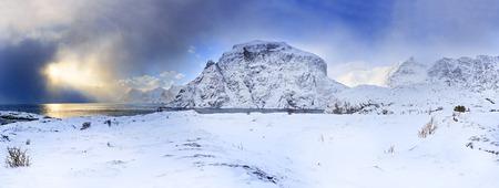 west end: The west end of Lofoten Islands near A i Lofoten village, Norway