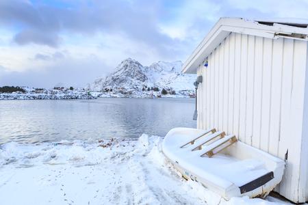 The fisherman village Moskenes on Lofoten Islands, Norway