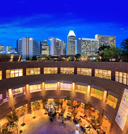 SINGAPORE, SINGAPORE - CIRCA SEPTEMBER, 2017:  Esplanade Building - Theatres on the Bay, Singapore.