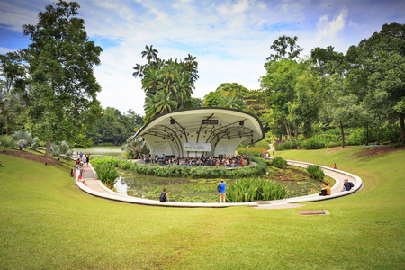 SINGAPORE, SINGAPORE - CIRCA SEPTEMBER, 2017:  The Singapore Botanic Gardens, Singapore.