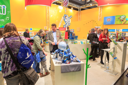 LEIPZIG, GERMANY - MARCH 16, 2018: The book fair Leipziger Buchmesse 2018 in Leipzig, Germany Standard-Bild - 117048736