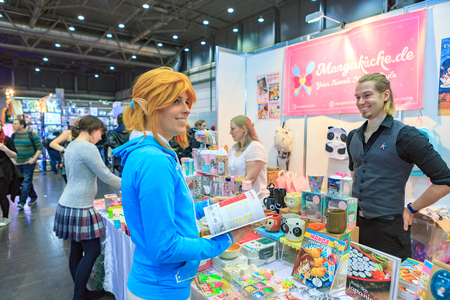 LEIPZIG, GERMANY - MARCH 16, 2018: The Manga-Comic-Convention at the book fair Leipziger Buchmesse 2018 in Leipzig, Germany Standard-Bild - 117048743