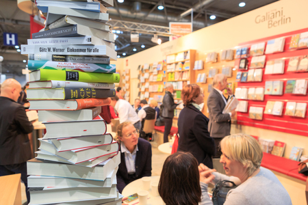 LEIPZIG, GERMANY - MARCH 16, 2018: The book fair Leipziger Buchmesse 2018 in Leipzig, Germany