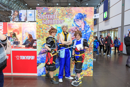 LEIPZIG, GERMANY - MARCH 16, 2018: The Manga-Comic-Convention at the book fair Leipziger Buchmesse 2018 in Leipzig, Germany Standard-Bild - 117048762
