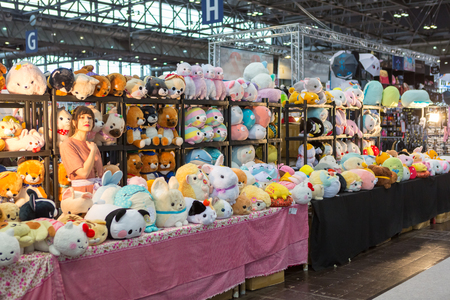 LEIPZIG, GERMANY - MARCH 16, 2018: The Manga-Comic-Convention at the book fair Leipziger Buchmesse 2018 in Leipzig, Germany Standard-Bild - 117048773