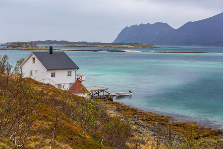 The landscape view of Senja Island near Straumsnes in Norway 写真素材