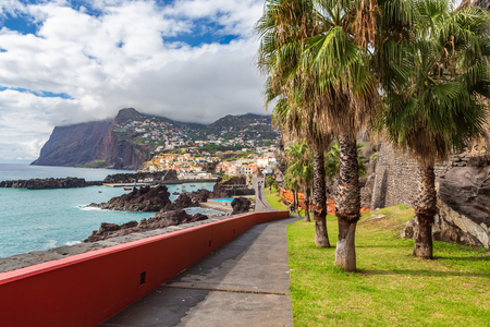 CAMARA DE LOBOS, MADEIRA ISLAND, PORTUGAL -  CIRCA OKTOBER, 2014: Camara de Lobos village on Madeira Island, Portugal
