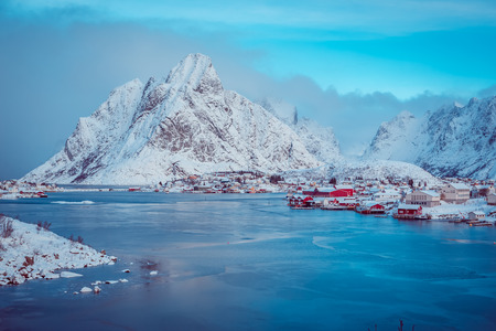 The fisherman village Reine on Lofoten Islands, Norway