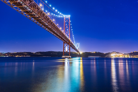The Ponte 25 de Abril Bridge in Lisbon, Portugal
