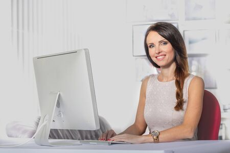 portrait of a female office worker Фото со стока