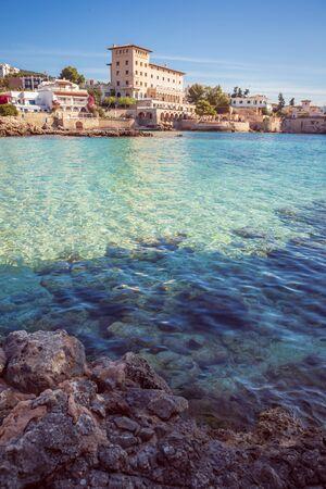 Cala Fornaris cave of Mallorca Island, the Balearic Islands in the Mediterranean Sea, Spain