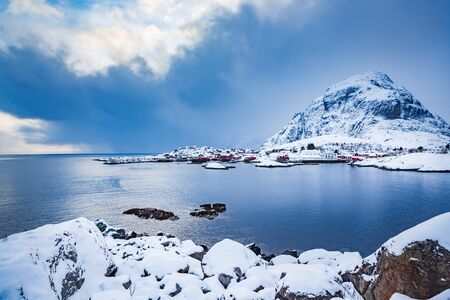 The fishermans village A i Lofoten on Lofoten Islands, Norway Stockfoto