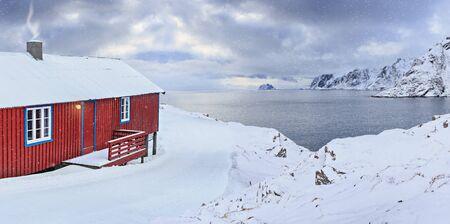 The fisherman village A i Lofoten on Lofoten Islands, Norway