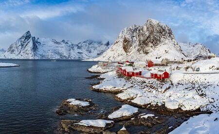 The fisherman village Hamnoy on Lofoten Islands, Norway Stockfoto