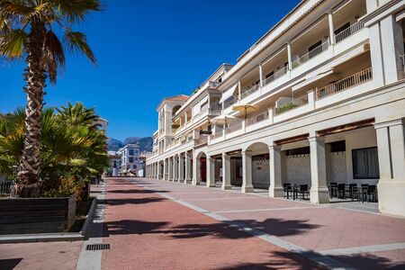 The townscape of Nerja on Costa del Sol in Andalusia, Spain
