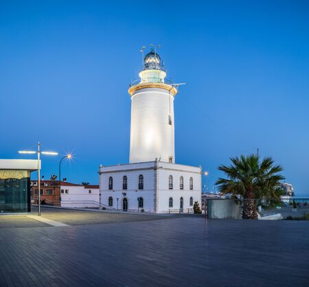 The Lighthouse in Port of Malaga on the Costa del Sol in Andalusia, Spain