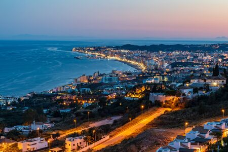 The coastline Costa del Sol in Andalusia, Spain