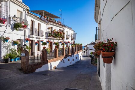 The townscape of Mijas on Costa del Sol in Andalusia, Spain