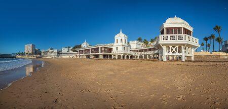 CADIZ, SPAIN - CIRCA NOVEMBER, 2019: The Underwater Archaeology Center Headquarters of Cadiz in Andalusia, Spain