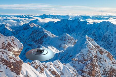 An UFO on approach in the mountain area