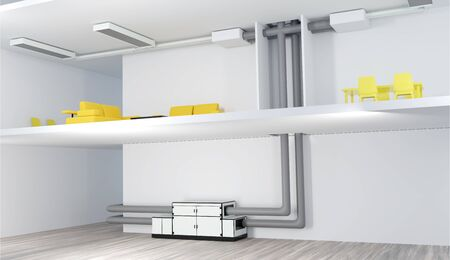 An air conditioning and ventilation systems in a multi-storey building Imagens