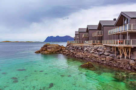 The landscape view of Senja Island near Hamn in Norway