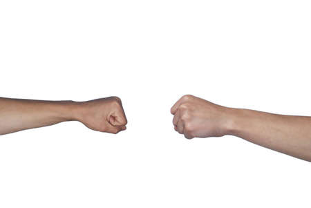 clenched: clenched hands Stock Photo