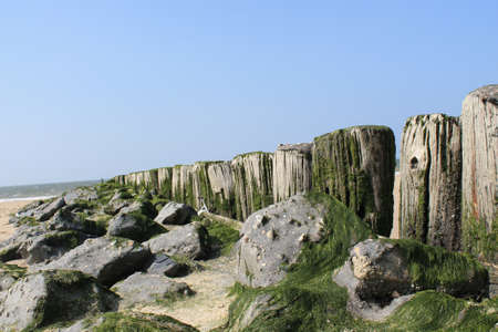 poles withs some rocks photo