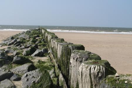 breakwater: rompeolas en la playa