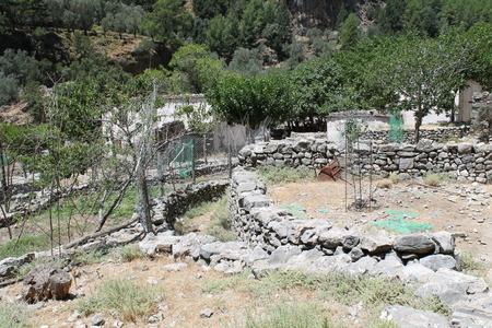 samaria: village in Samaria gorge, crete