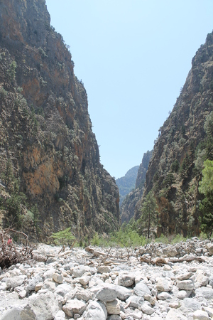 Samaria gorge, crete photo