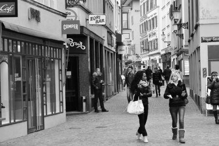 zurich: Zurich Old Town Street Scene
