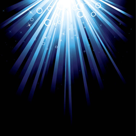 Detailed illustration with a blue burst with stars Stock Vector - 4704909