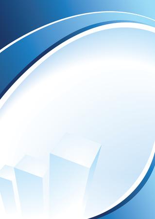 Blue corporate design per il testo