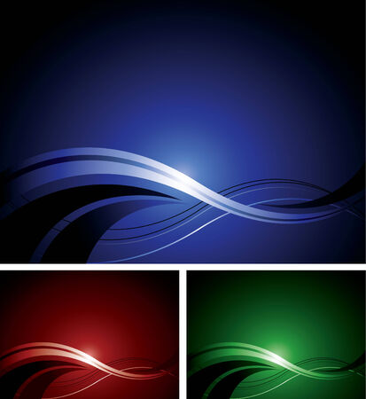 An abstract design in three different colors Stock Vector - 5342023