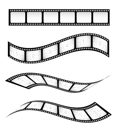 negativity: Various vector film strips for designs