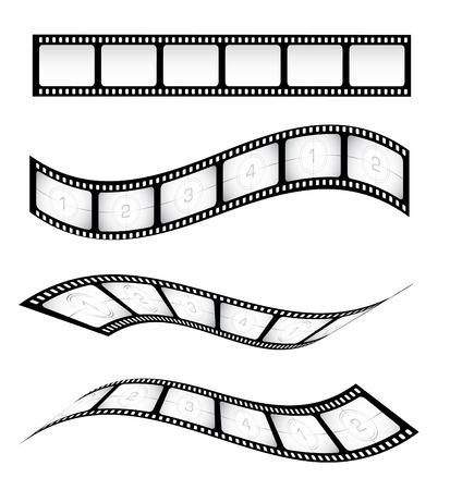 Verschiedene Vektor Filmstreifen für Geschmacksmuster
