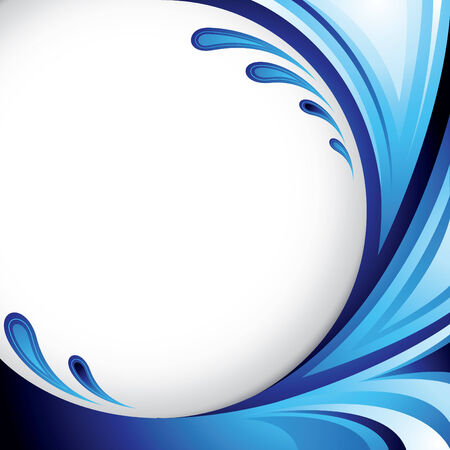 A splash of blue colors - Background design for your text Ilustra��o